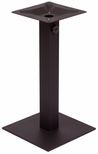 Margate 19.7'' Square Base in Black Powder Coat [PHTB20SQBLU-BFMS]