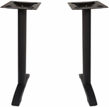 Margate End Bases in Black Powder Coat - Bar Height - Set of 2 [PHTB0022BLT-BFMS]