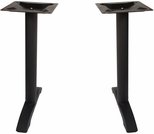 Margate End Bases in Black Powder Coat - Set of 2 [PHTB0022BL-BFMS]