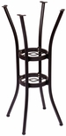 Martinique Aluminum Base in Black Powder Coat - Bar Height [MSTB2626BLT-BFMS]