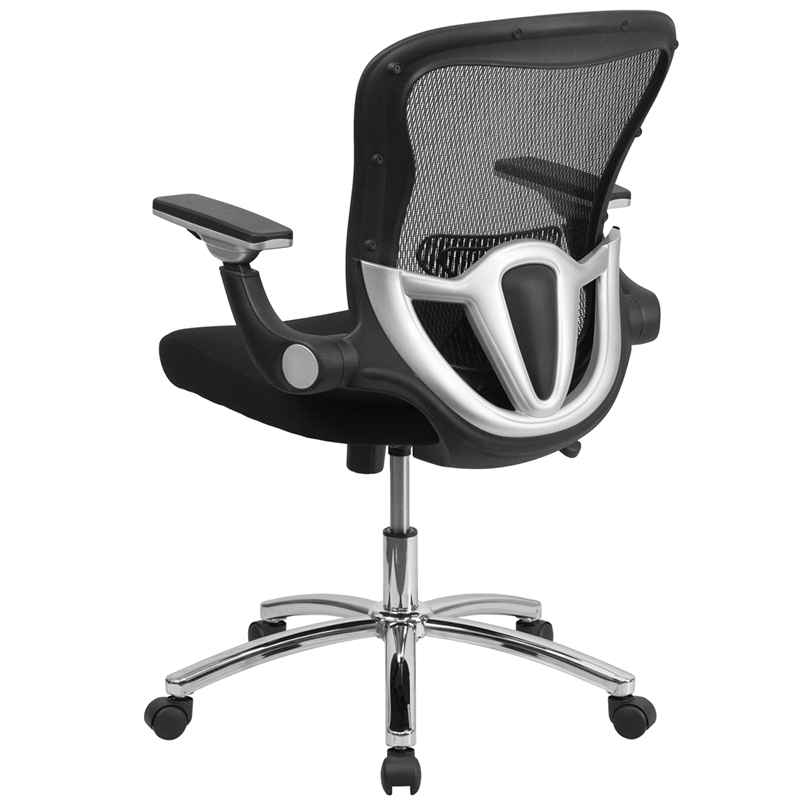 Mid Back Black Mesh Executive Swivel Chair With Height