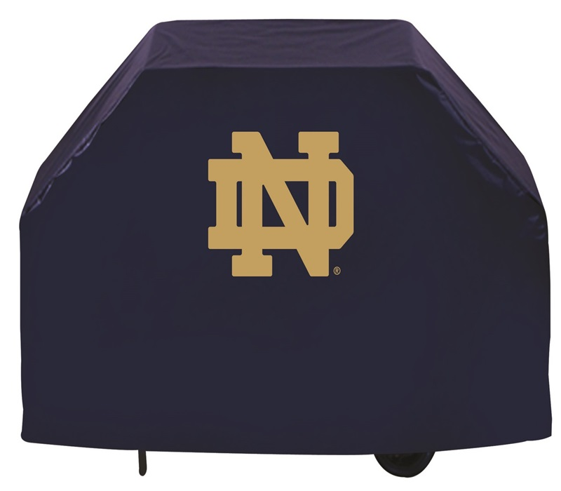 Notre Dame Logo Blue Vinyl 72 Grill Cover Gc72nd Nd