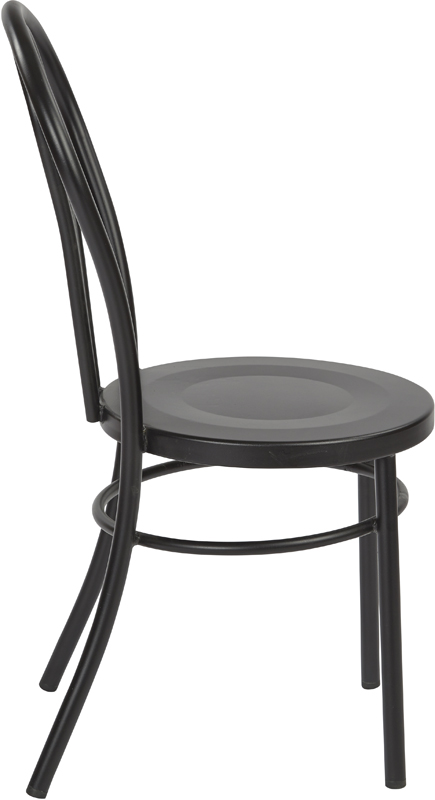 OSP Designs Odessa Metal Dining Chair With Backrest Set Of 2 Matte Black
