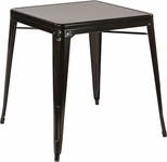OSP Designs Patterson 26'' Metal Table - Black [PTR432-3-FS-OS]