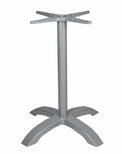 Palm 4 Aluminum Bar Height Table Base with Arched X Shape - Anodized Silver [SC-1002-593-SCON]