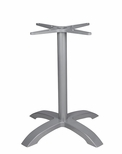 Palm 4 Aluminum Table Base with Arched X Shape - Anodized Silver [SC-1002-583-SCON]