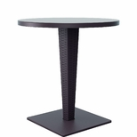 27.5''W Riva Werzalit Top Round Dining Table - Brown [ISP882-BR-FS-CMP]
