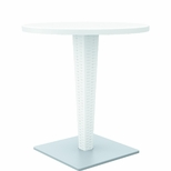 27.5''W Riva Werzalit Top Round Dining Table - White [ISP882-WH-FS-CMP]