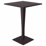 27.5''W Riva Werzalit Top Square Bar Height Table - Brown [ISP888-BR-FS-CMP]