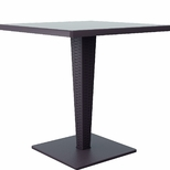 27.5''W Riva Werzalit Top Square Dining Table - Brown [ISP884-BR-FS-CMP]