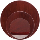Round Mahogany <font color = blue><b>Resin</b></font> Table Top [BFDH-MARD-TDR]