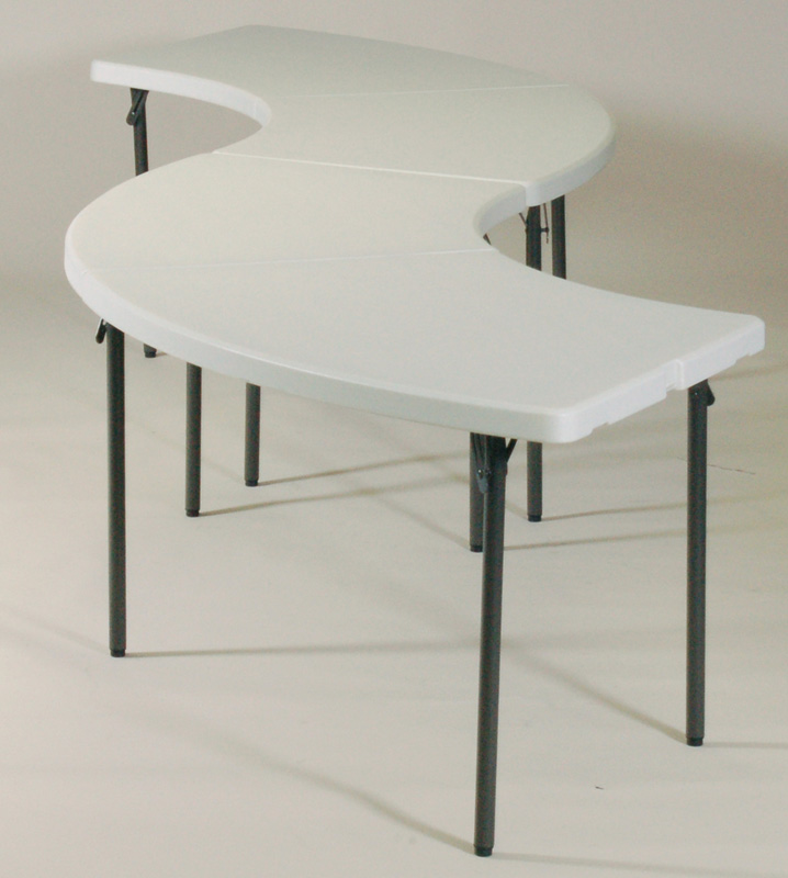 Blow Molded Plastic Top Serpentine Buffet Table Grouping