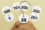 Set of Break Resistant 1-100 Number Coat Check Tags [869-CLM]