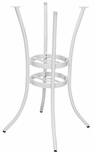 Snowdrop 4 Round Powder Coated Aluminum Bar Table Base - White [SC-1005-593-WHITE-SCON]