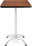 24'' Square Cafe Table - Cherry with Chrome Base [CCLT24SQ-CHY-MFO]