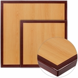 Square Two-Tone <font color = blue><b>Resin</b></font> Cherry Table Top with Mahogany Edge [BFDH-CYMASQ-TDR]