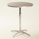 Standard Series Height Adjustable Round Pedestal Table with Chrome Plated Steel Column and Laminate Top - 30'' Diameter [ML30RDPEDADJ-MFC]