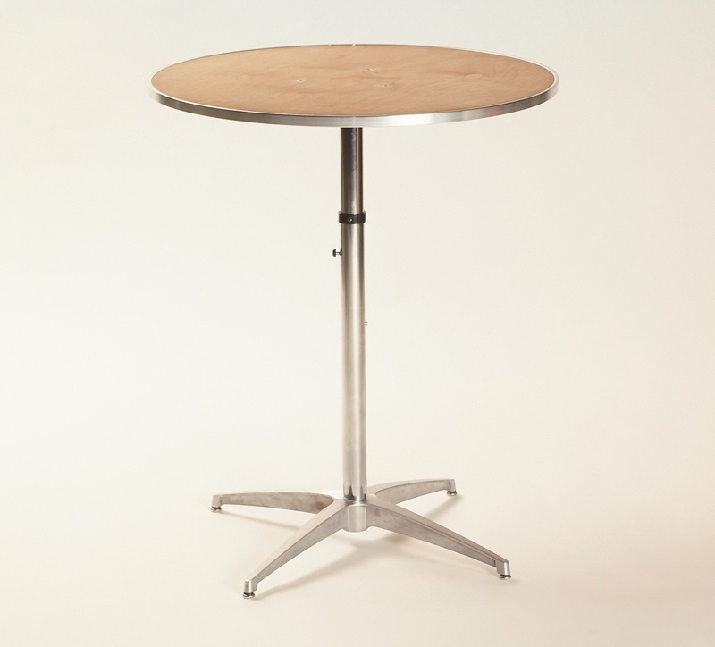 Standard Furniture Cosmo Adjustable Height Round Wood Top: Standard Series Height Adjustable Round Pedestal Table