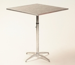 Standard Series Height Adjustable Square Pedestal Table with Chrome Plated Steel Column and Laminate Top - 36''D x 36''W [ML36SQPEDADJ-MFC]