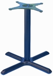 TB 104 Cast Iron Pub Table Base with Column and 30'' X - Shaped Base - Black [TB-104-30-PUB-KIT-JMC]