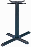 TB 106 Cast Iron Standard Table Base with Column and 22'' x 30'' X - Shaped Base - Black [TB-106-22-STANDARD-KIT-JMC]
