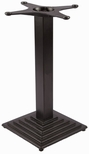 TB 108 Cast Iron Standard Table Base with Column and 18'' Square Base - Black [TB-108-STANDARD-KIT-JMC]