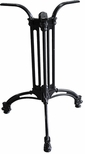 TT 102 3 Footed Cast Iron Outdoor Table Base with 20.5'' Base - Black [TT-102-CA-STANDARD-KIT-JMC]
