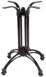 TT 106 4 Footed Cast Iron Outdoor Pub Table with 23.5'' Base - Black [TT-106-CA-PUB-KIT-JMC]