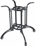TT 106 4 Footed Cast Iron Outdoor Table with 34'' Base - Black [TT-106-EXT-CA-STANDARD-KIT-JMC]