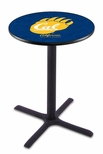 University of California Berkeley 36''H Black Wrinkle Finish Counter Height Pub Table with X-Base [L211B36CAL-UN-FS-HOB]