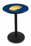 University of California Berkeley 36''H Black Wrinkle Finish Counter Height Pub Table with Round Base [L214B36CAL-UN-FS-HOB]