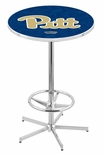 University of Pittsburgh 42''H Chrome Finish Bar Height Pub Table with Foot Ring [L216C42PITTSB-FS-HOB]