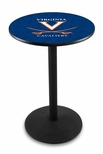 University of Virginia 36''H Black Wrinkle Finish Counter Height Pub Table with Round Base [L214B36VRGNIA-FS-HOB]