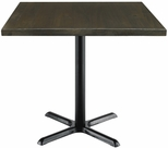 Urban Loft Collection 36'' Square Vintage Wood Top with Black Cafe Height Table Base - Espresso [T36SQ-B2025-LFT-ES-IFK]