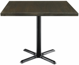 Urban Loft Collection 42'' Square Vintage Wood Top with Black Cafe Height Table Base - Espresso [T42SQ-B2025-LFT-ES-IFK]