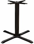 Valencia 4 Cast Iron Dining Table with Large X Shaped Base - Black Powder Coat [SC-1401-589-SCON]
