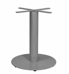 Verona Aluminum Dining Table with Large Round Base - Silver Powder Coat [SC-1008-588-SCON]