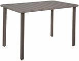 Vista 32'' x 48'' Outdoor Aluminum Table with Umbrella Hole - Earth [DVV3248-ER-BFMS]