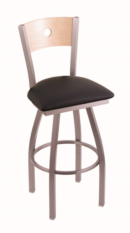 Voltaire 25 Stainless Finish Swivel Counter Height Stool