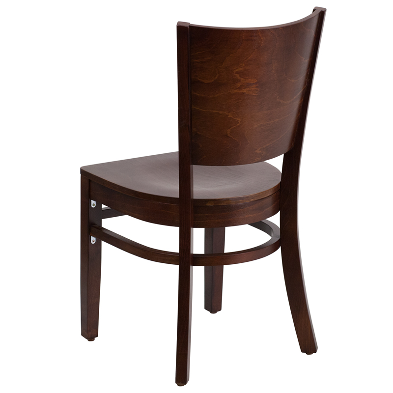 Walnut Finished Solid Back Wooden Restaurant Chair BFDH