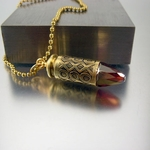 .40 Caliber  Bullet Necklace  X and O's
