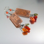 Artisan Earrings with Autumn Turquoise