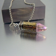 Bullet Necklace | .40 Caliber | Rose Bud Lite