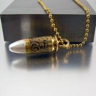 Bullet Necklace | 9mm | Perla
