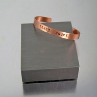 Latin Phrase | Stamped Cuff Bracelet | Know Thyself