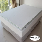 "Abripedic 2.5"" Gel Memory Foam Mattress Topper"