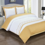 Amalia Gold Embroidered Duvet Cover Set
