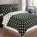 Black & White Bloomingdale Duvet Cover Set