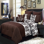Bliss Chocolate  Multi - Piece Luxury Bedding Set