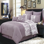 Bliss Purple  Multi - Piece Luxury Bedding Set